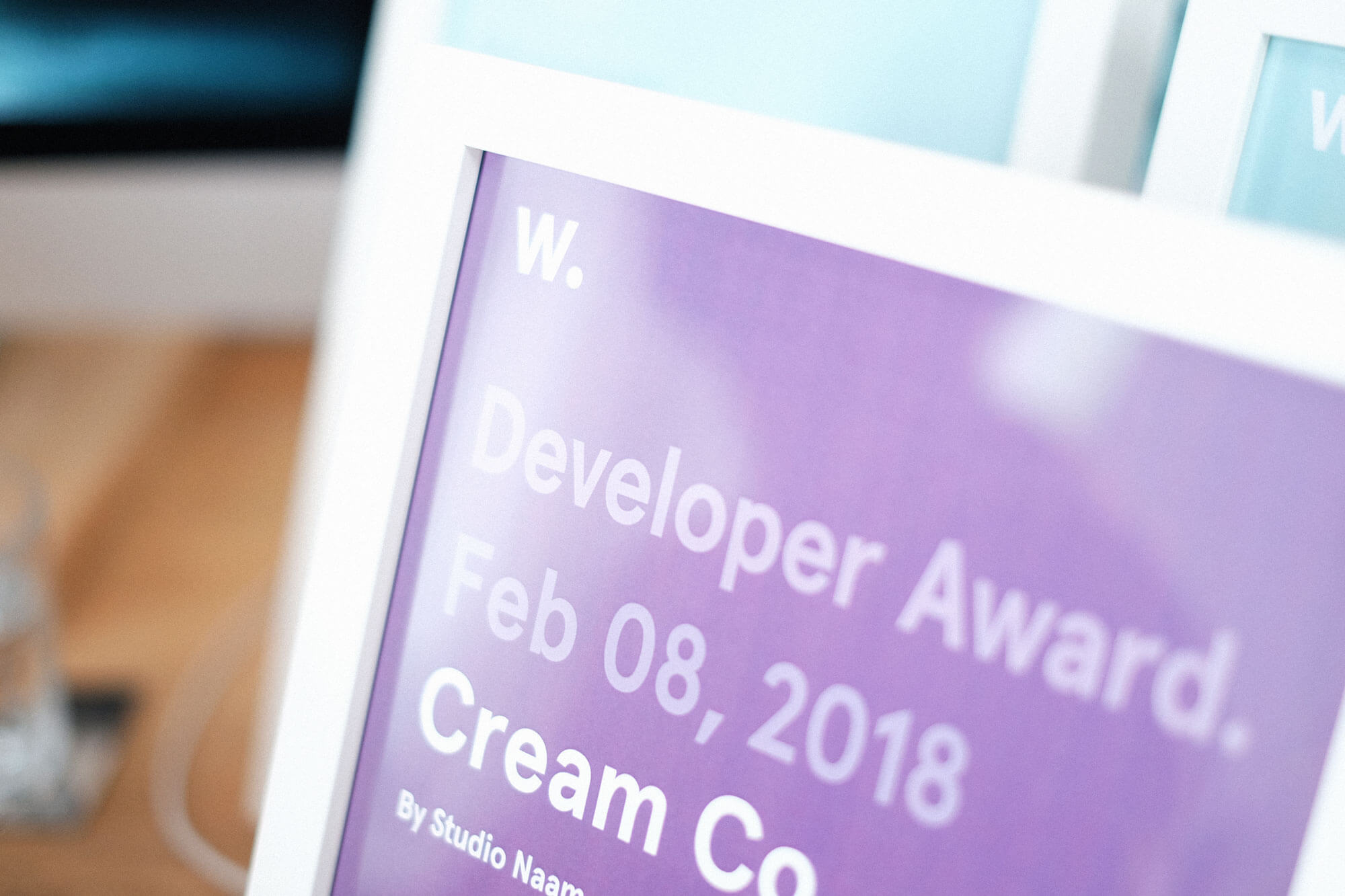 Developer award van Awwwards voor de Cream Co. website