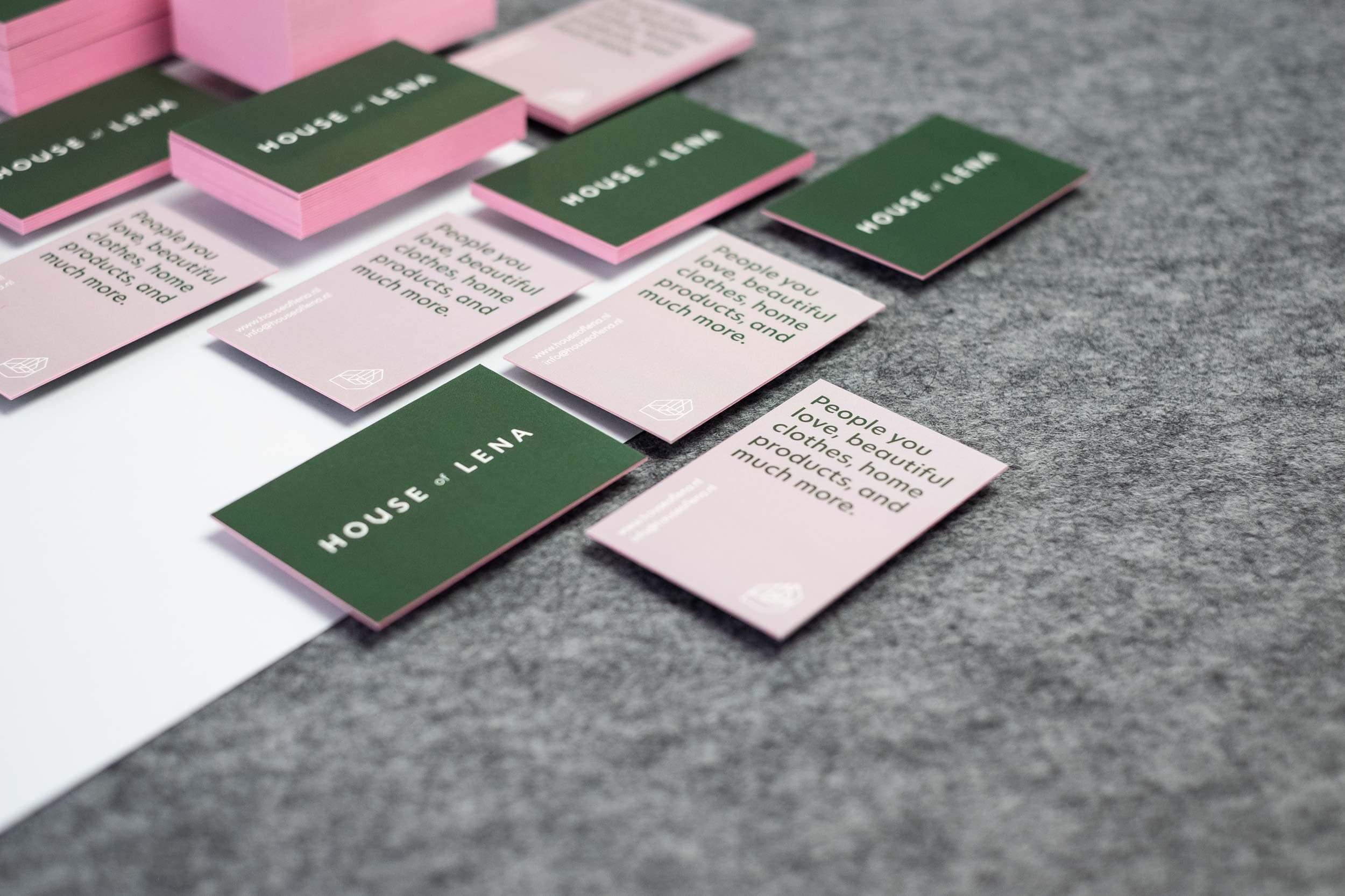 Een overzicht van House of Lena visitekaartjes