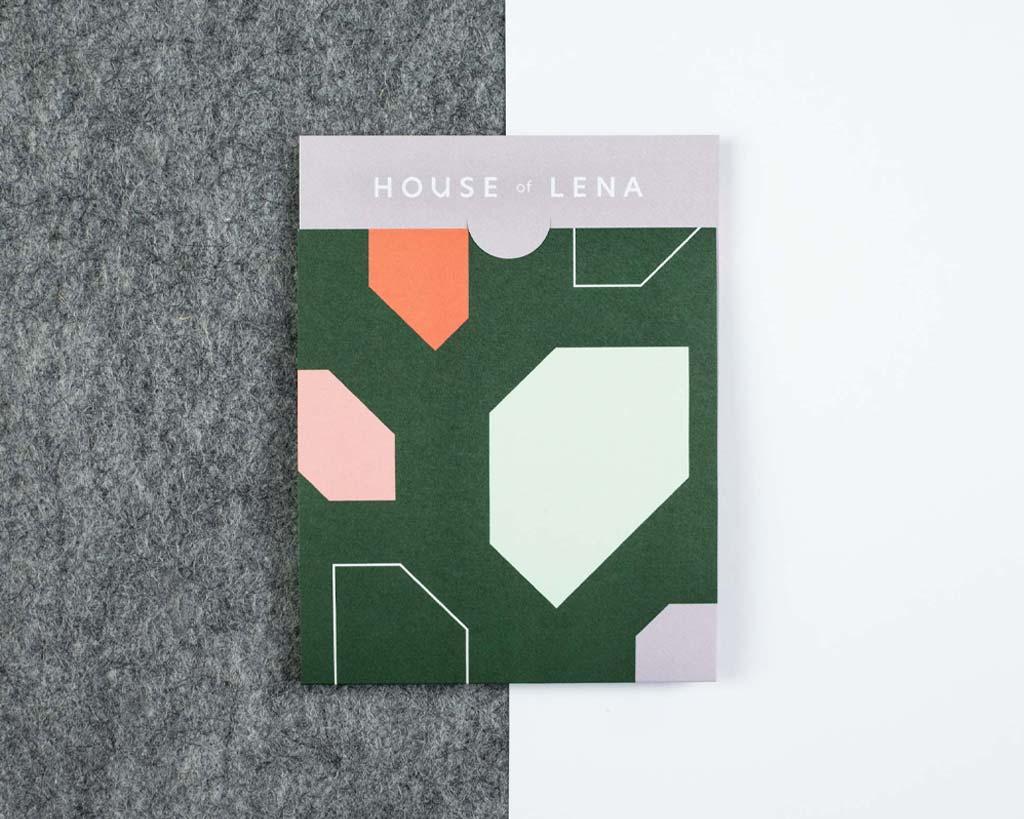 House of Lena merkidentiteit bonnenboekje