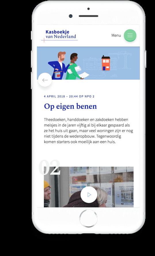 Kasboekje van Nederland. Op eigen benen aflevering op iPhone