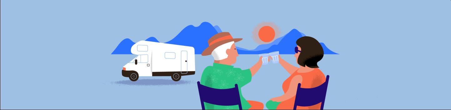Kasboekje van Nederland op reis met de camper zonsondergang