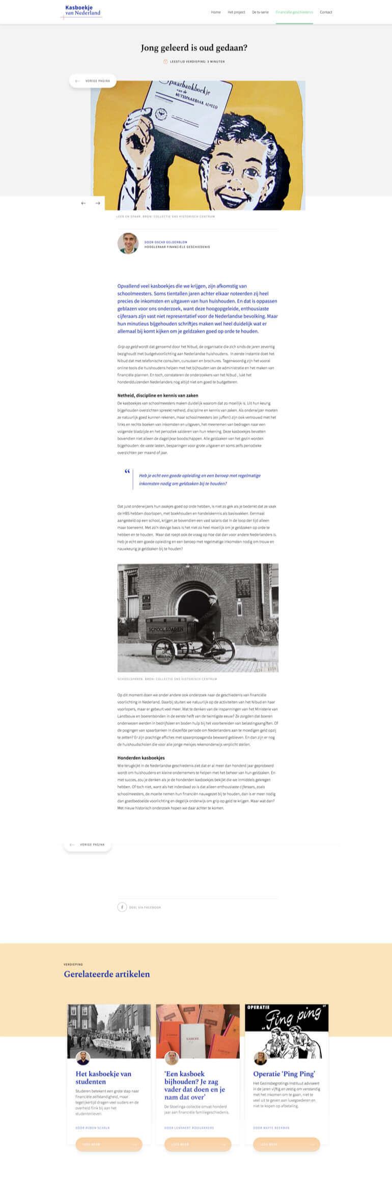 Kasboekje van Nederland artikel of nieuws pagina