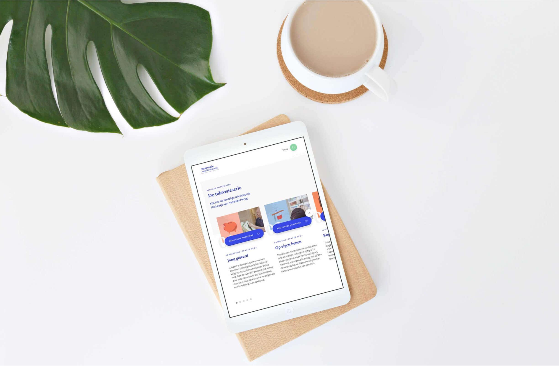 Een iPad tablet met de Kasboekje van Nederland website open