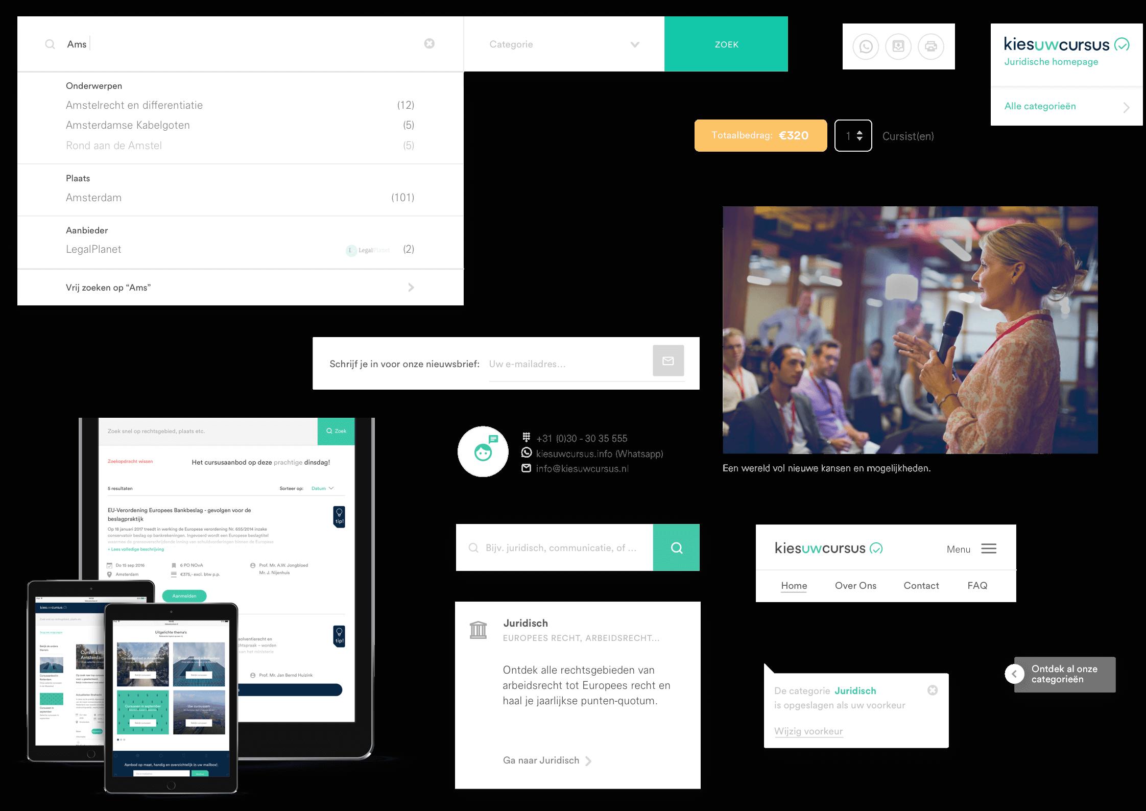 Kies uw Cursus user interface elementen ontwerp