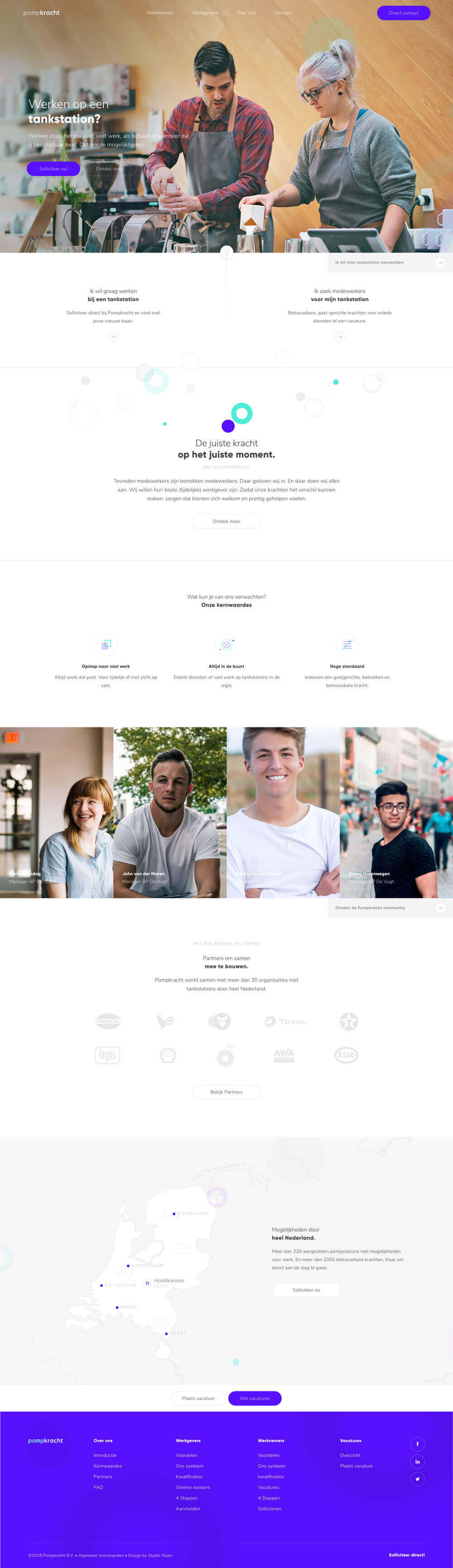Pompkracht homepage overzicht