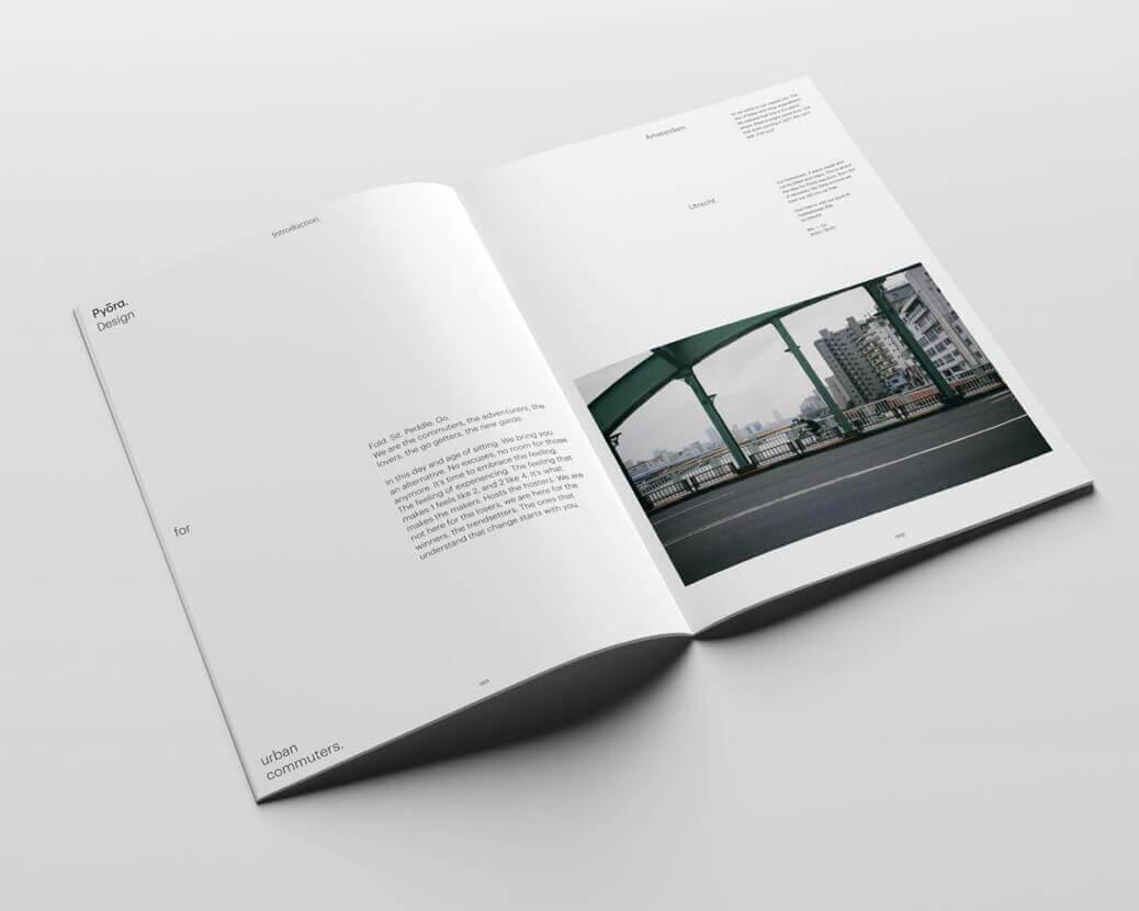 Pyora magazine met foto van de stad