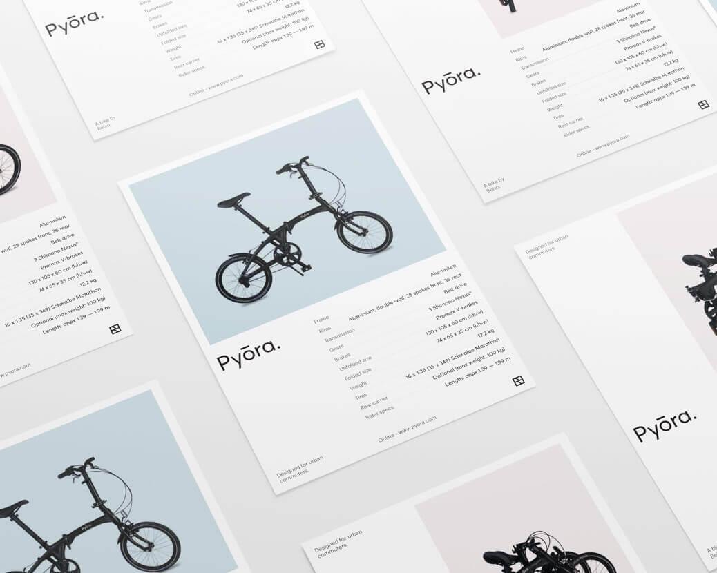 Pyora product detail flyers
