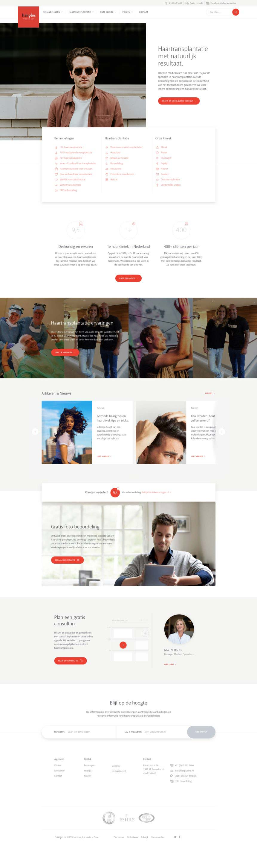 Hairplus Medical Care afbeelding van de homepage