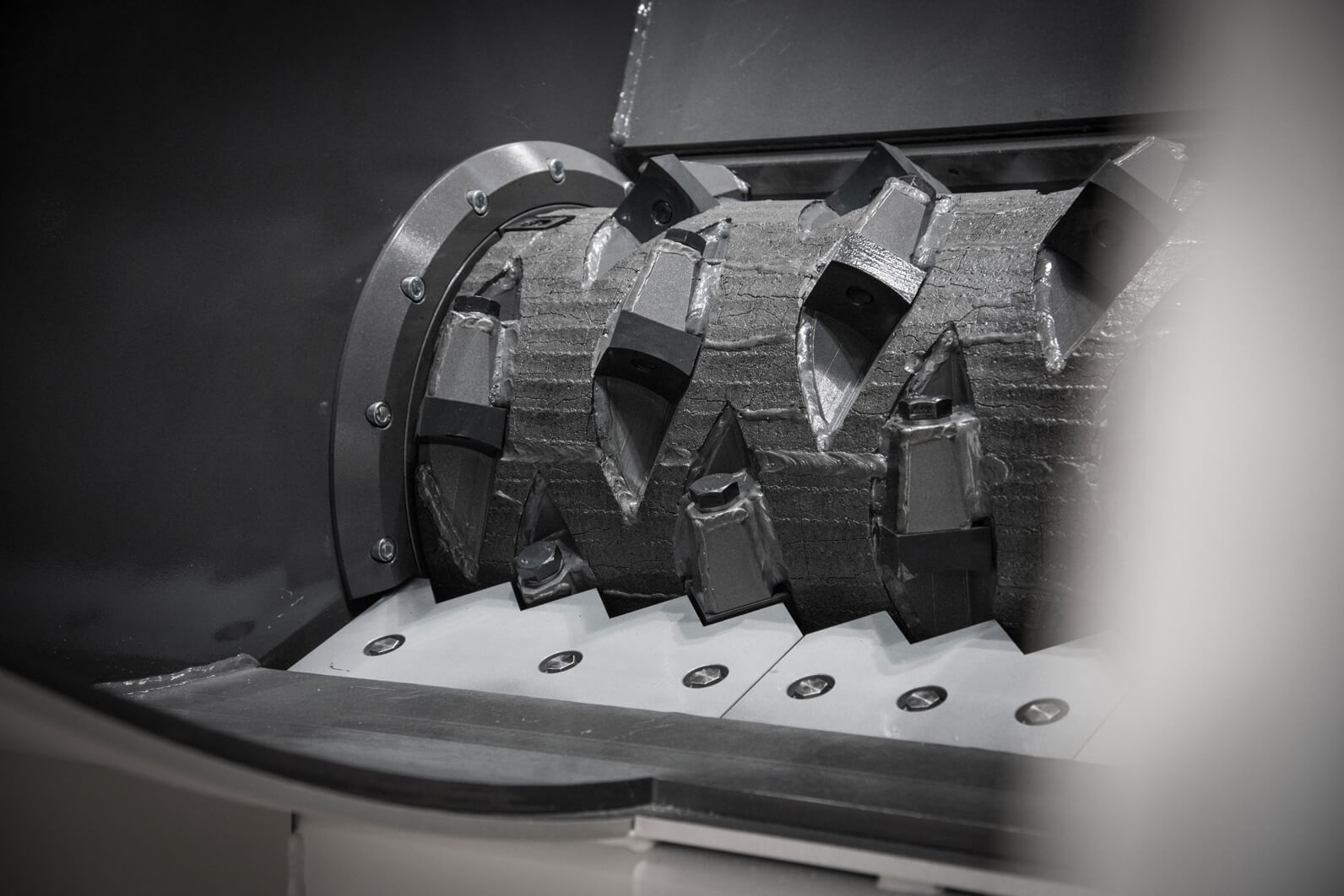 Weima machine afbeelding van shredder mes